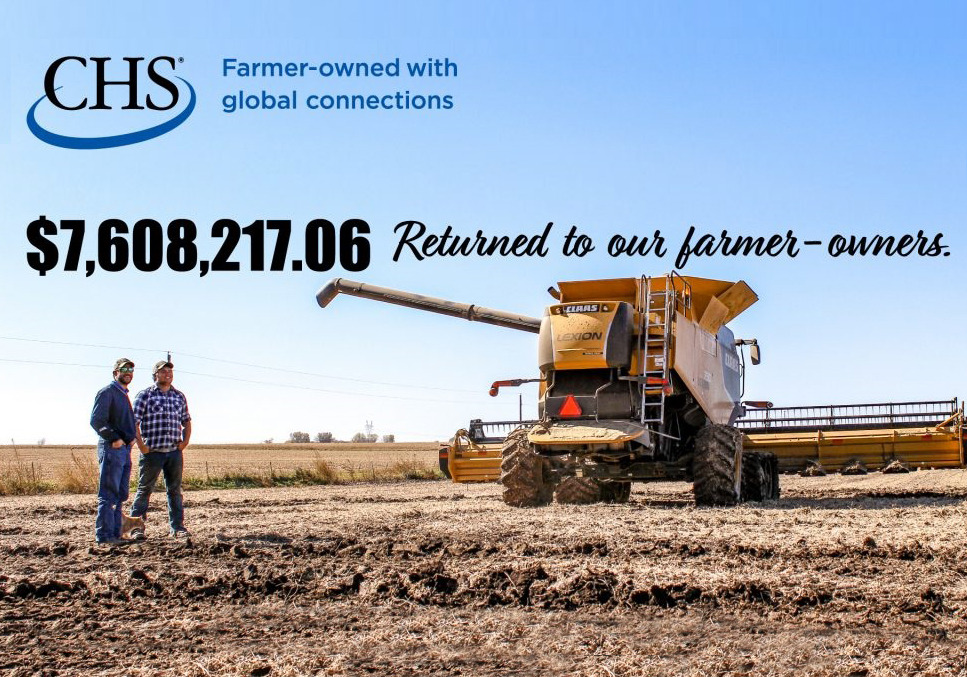 $7,608217.06 returned to our farmer-owners