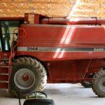 Farm equipment in storage